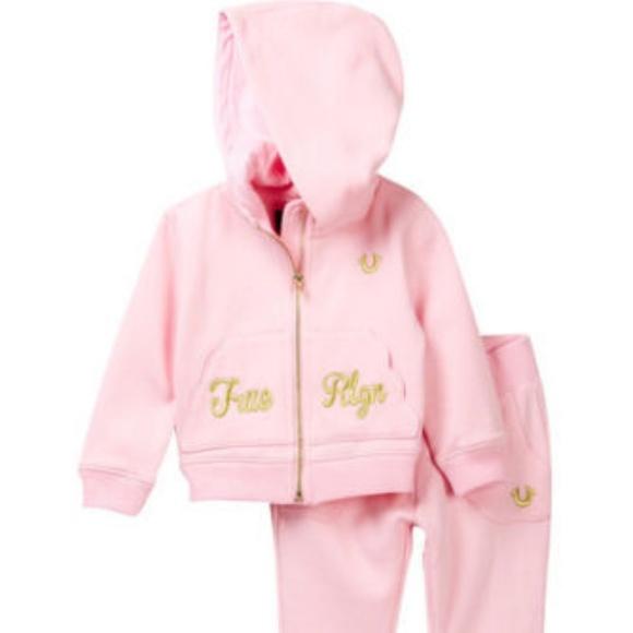 5ac76dbfb True Religion Matching Sets | Baby Girls 2pc Pink Hoodie Sweatpant ...